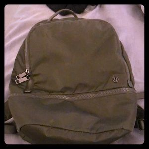Army green lululemon backpack!